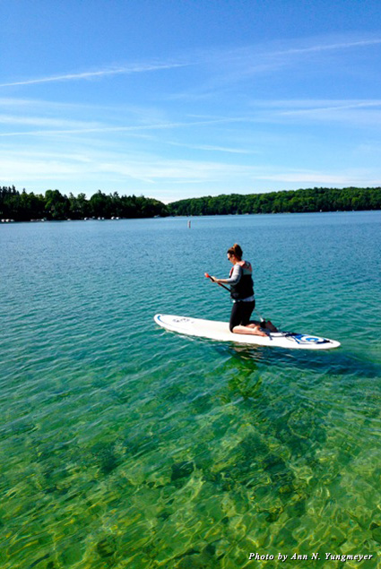 Learn to paddleboard on Elkhart Lake