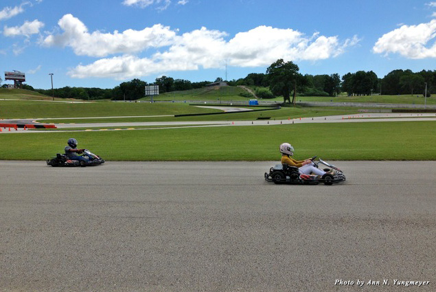 Go Karts on the race track at Road America