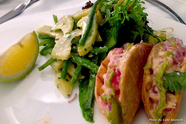 Ahi tuna tacos served at Sydney's Club Bar and Restaurant