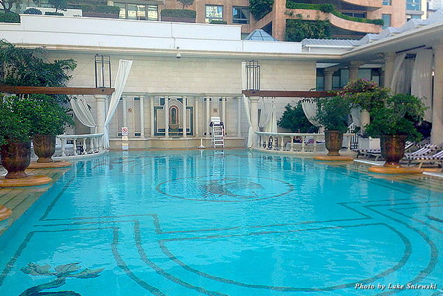 The pool at Phoenicia