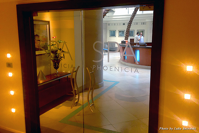 Entry doors to SPA Phoenicia