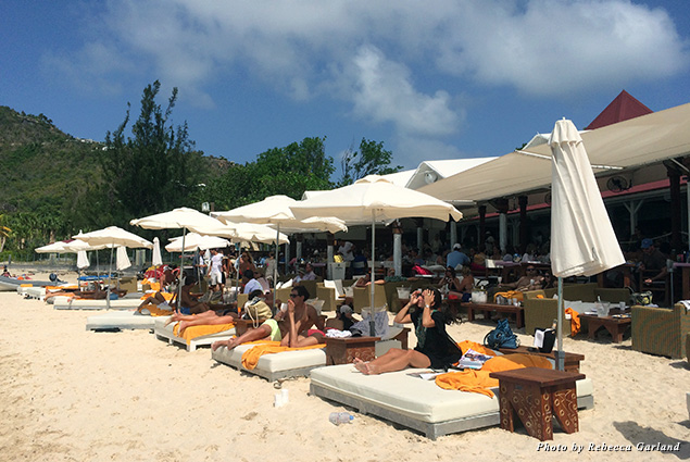 Day beds at Nikki Beach