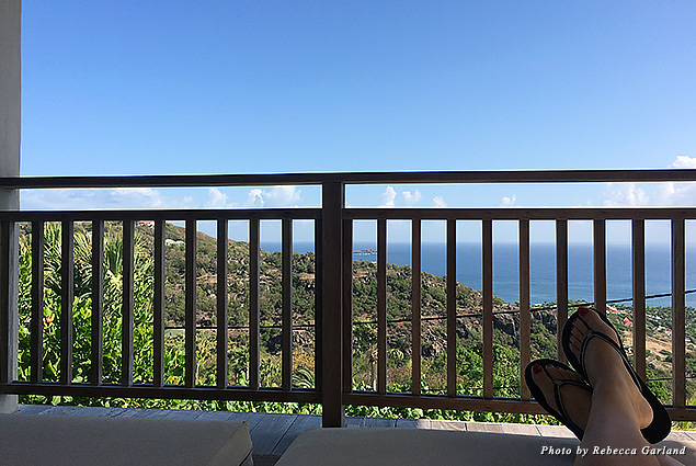 Mornings were spent at Villa Bibi enjoying amazing views of the Caribbean Sea