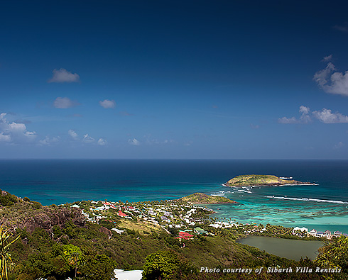 View of the Caribbean Sea from Villa Bibi in St. Barts
