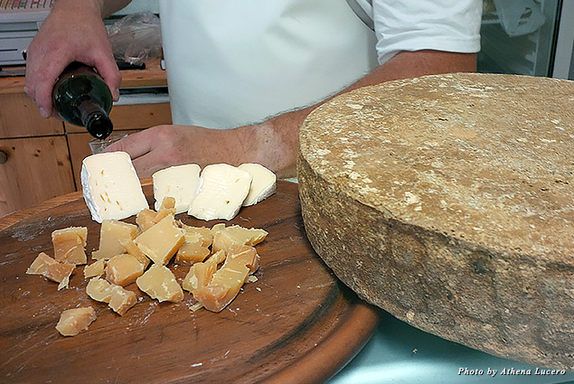 Raclette cheese is made from the raw milk of black fighting cows that graze all summer on herbs, grass, and flowers