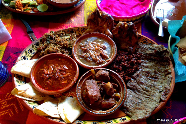 Various meats and local stews at El Meson