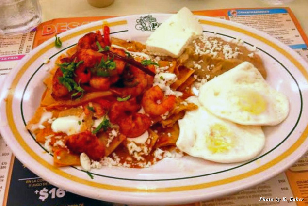 Shrimp chilaquiles at Panama Restaurant