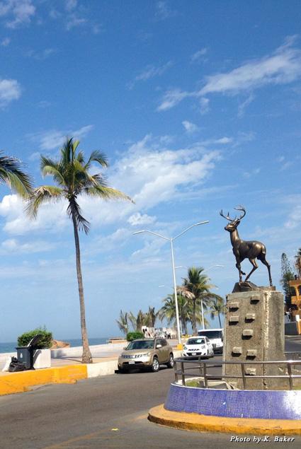 Deer statue next to Mazatlán's Malecón