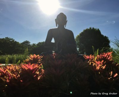 Buddha statue at Lumeria Maui