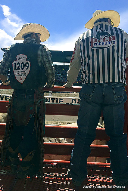 Contestants from different parts of the United States come to Cheyenne to compete in Cheyenne Frontier Days' various timed events