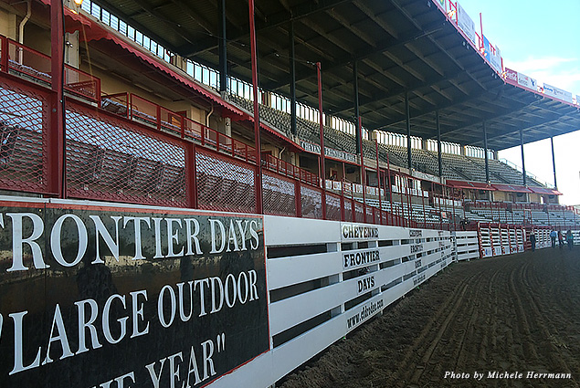"The ""Behind the Chutes"" tour takes you all around the Cheyenne Frontier Days Arena"