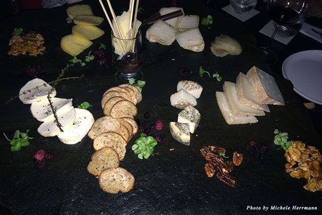 Cheese plate at Furca
