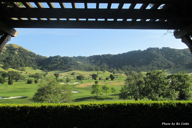The view from a bungalow at CordeValle