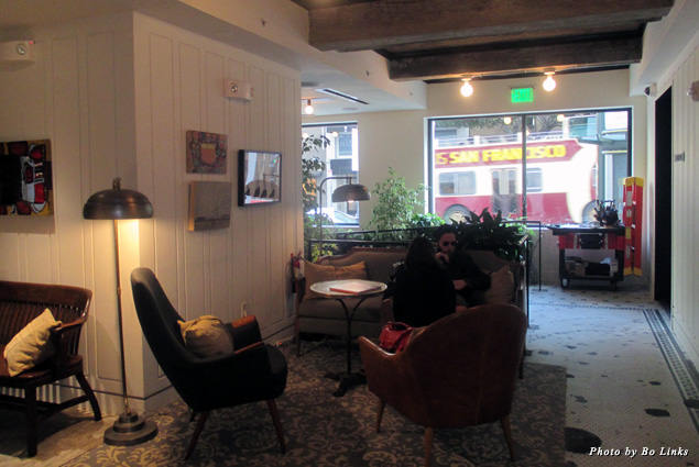 Cozy lobby at Hotel G
