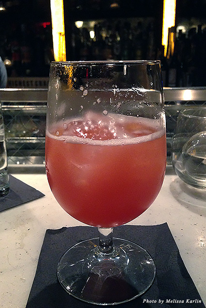 Pink cocktail at Franklin Mortgage and Investment Company