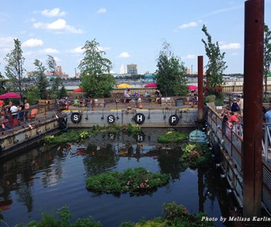 Lounging space at Philadelphia's Spruce Street Harbor Park