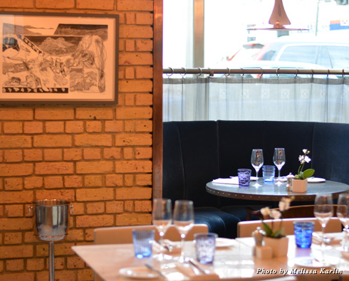 Pont St features round booths, perfect for a cozy and private dining experience