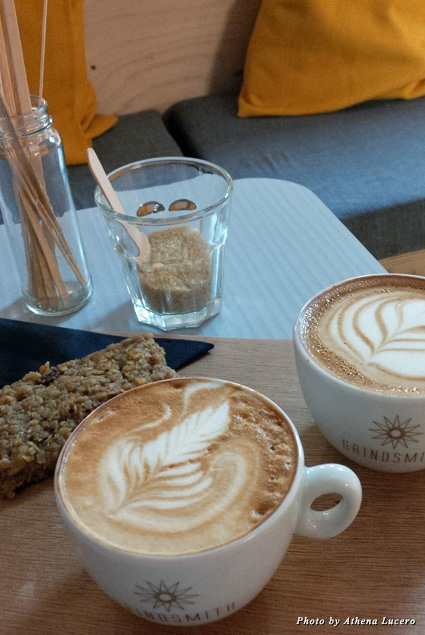 Luscious cappuccinos at cool and quirky Grindsmith coffee shop