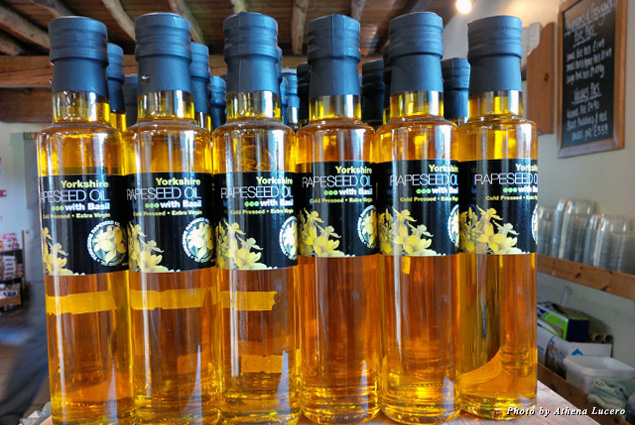 Heart-healthy cold-pressed rapeseed oil is produced and bottled in Yorkshire