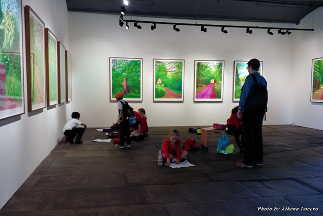The 1853 Gallery in the former mill in Bradford contains the largest collection of local artist David Hockney's works
