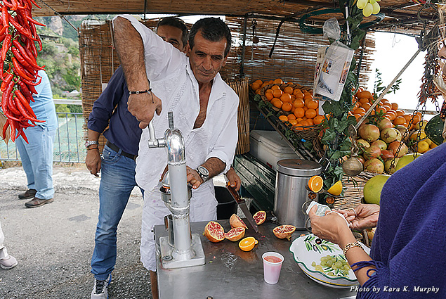 Fresh juice stand