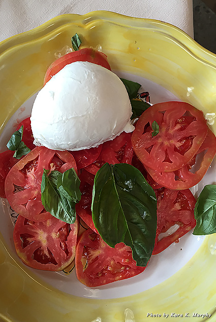 Caprese salad at Chez Black