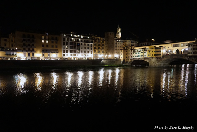 The Arno River at night