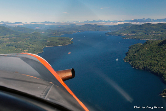 View of Knight Inlet from the seaplane