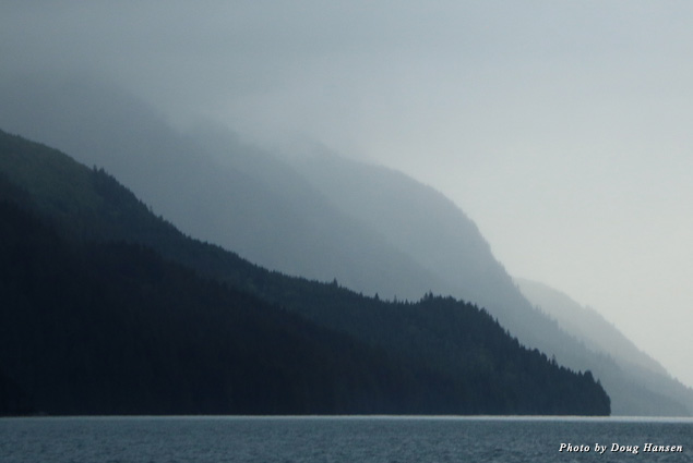 The mountains on an overcast day
