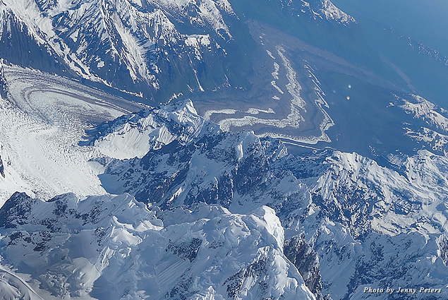 One of Denali Mountain's stunning glaciers