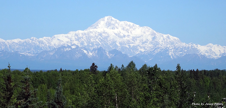 The majestic Denali Mountain in Alaska