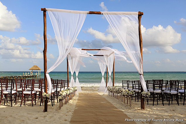 Viceroy Riviera Maya hosts weddings on the beach
