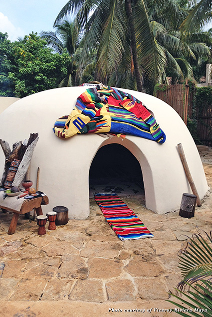 Traditional Maya Temazcal on the Viceroy's property