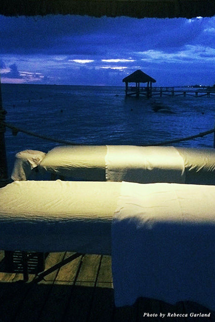Spa therapists can perform a couple's massage on the Viceroy's pier