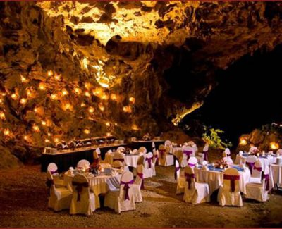 Emeraude Cruises cave dinner