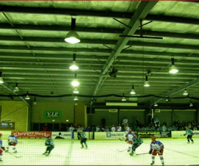 The Canberra Knights play at the Phillip Ice Skating Centre, an Australian version of the regional hockey rink