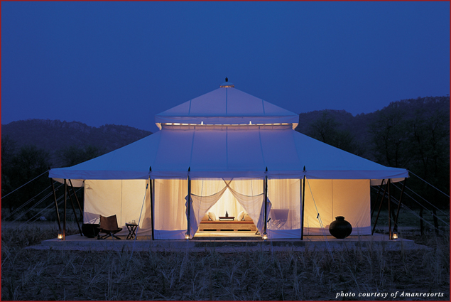 Tented Luxury at Aman-i-Khás