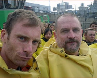 Daniel and Joe Jet Boating
