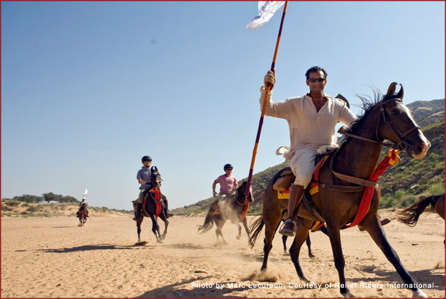 Relief Riders lead relief missions on horseback through Rajasthan, India
