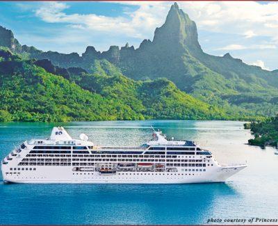 The Ocean Princess off of Bora Bora