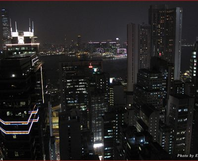 Hong Kong and Victoria Harbour at night