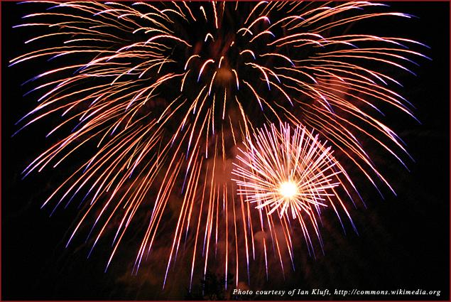 Fireworks in San Jose California