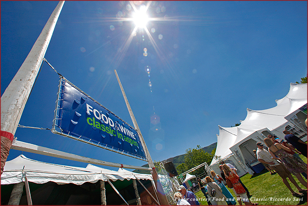 Guests mingle at the Aspen Food and Wine Classic