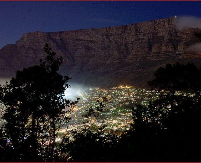 Table Mountain and the City Bowl by night