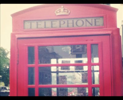 A classic London telephone booth