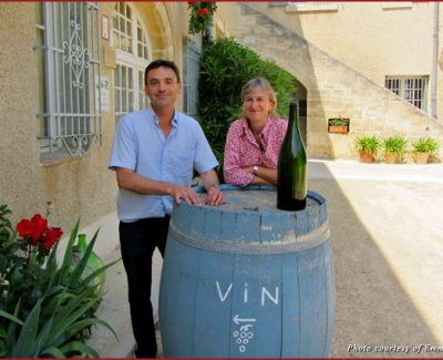 Francois and Ann Collard of Chateau Mourgues du Gres