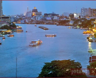 View from Mandarin Oriental Bangkok 10th floor hotel room