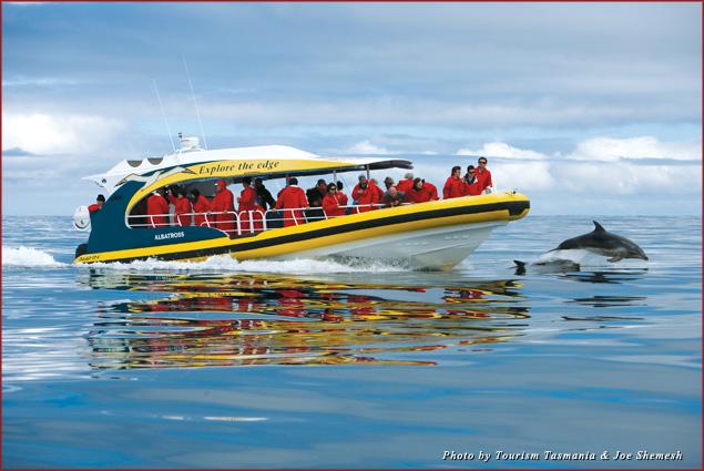 Passengers take a Bruny Island Cruise from Pennicott Wilderness Journeys