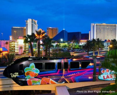 The Las Vegas Monorail is a quick and convenient way to get around the city