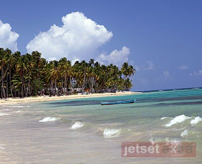 View of Las Terrenas Beach in the Dominican Republic